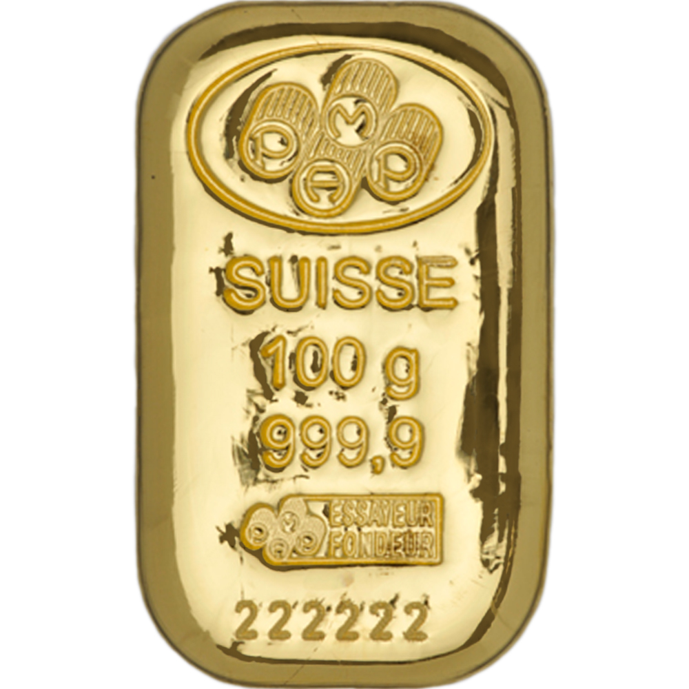PAMP Suisse 100g Cast Gold Bar (Image 1)