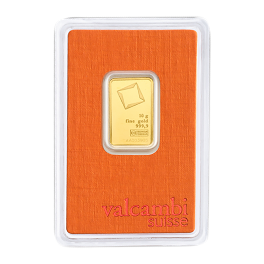 Valcambi 10g Stamped Gold Bar