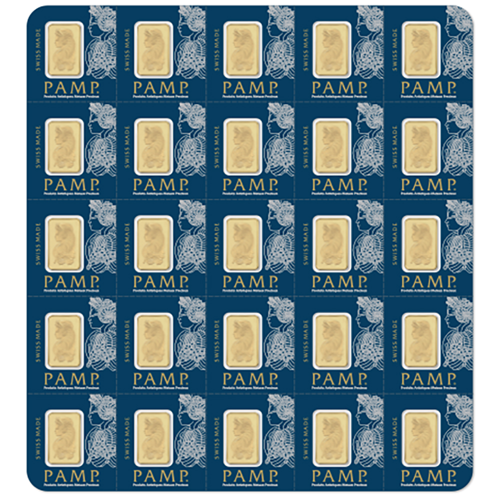 PAMP Suisse 25x 1g Multigram Gold Bar (Image 1)