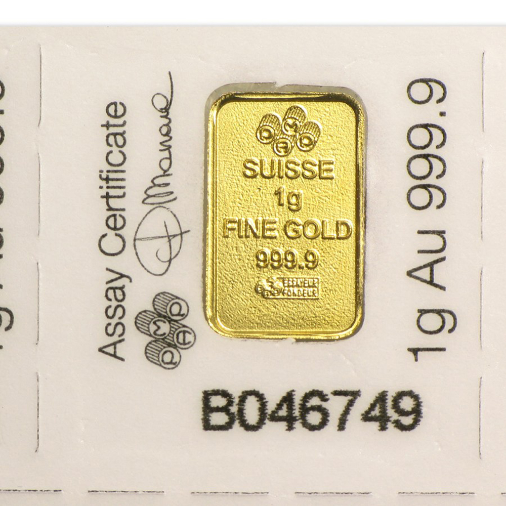 PAMP Suisse 25x 1g Multigram Gold Bar (Image 4)