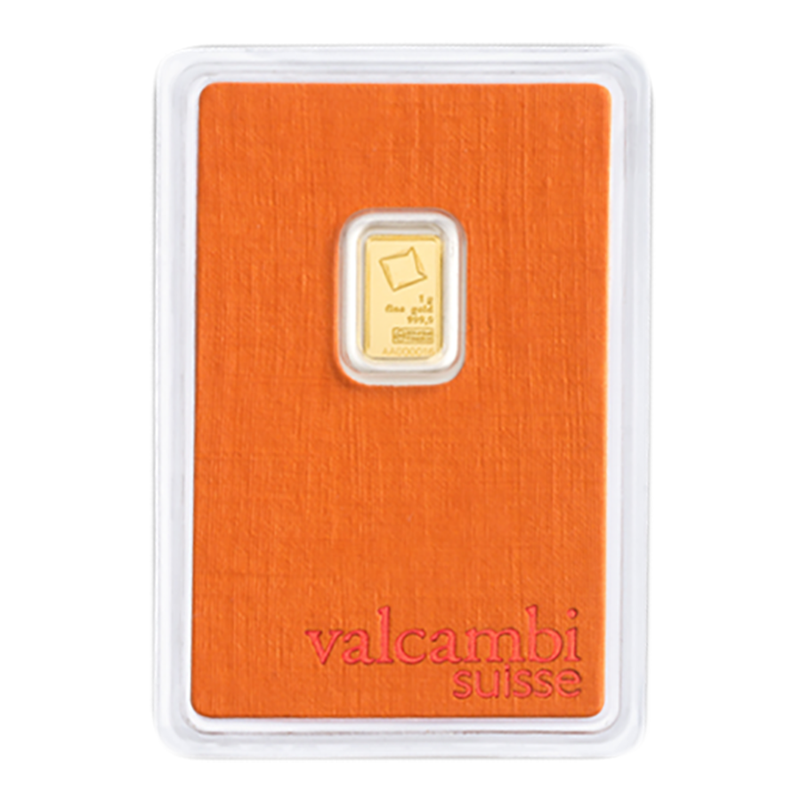Valcambi 1g Stamped Gold Bar