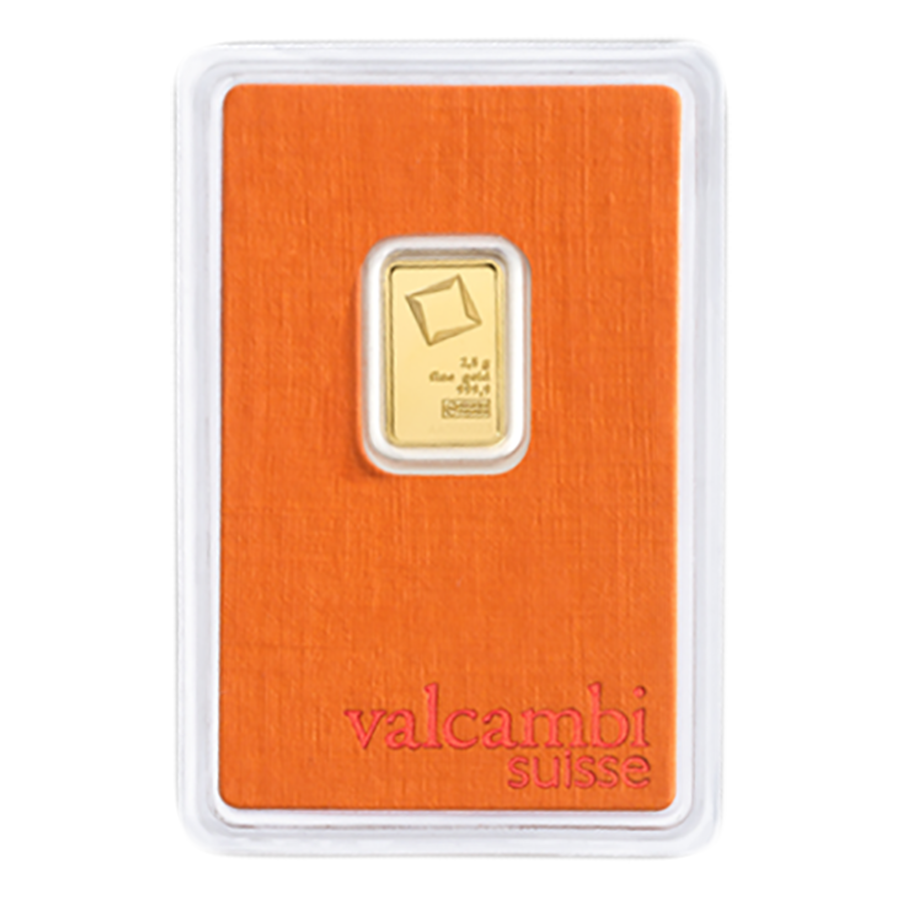 Valcambi 2.5g Stamped Gold Bar