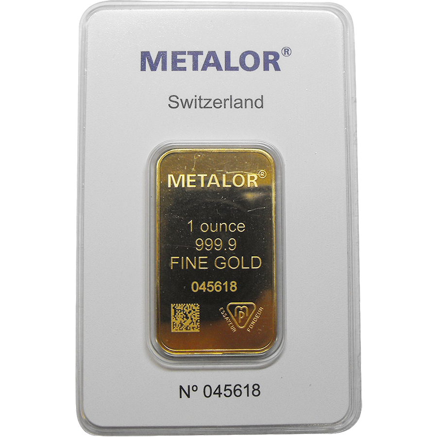 Pre-Owned Metalor 1oz Gold Stamped Bar