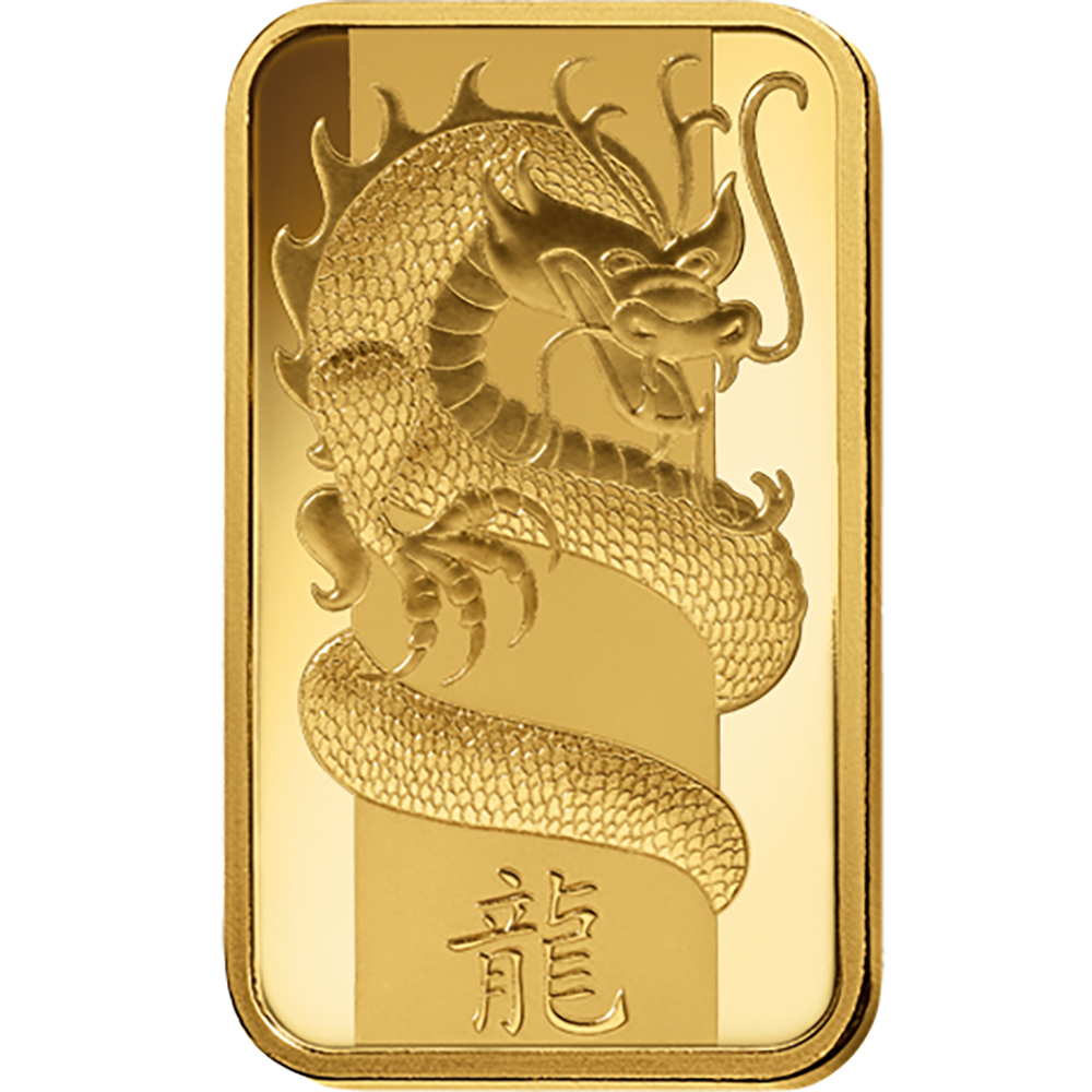 2012 Lunar Dragon 5g Gold Bar Five Gram Gold Bars For Sale