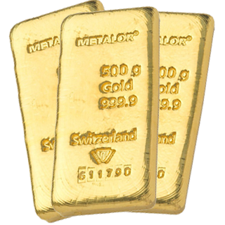 500g Gold Bullion Bar