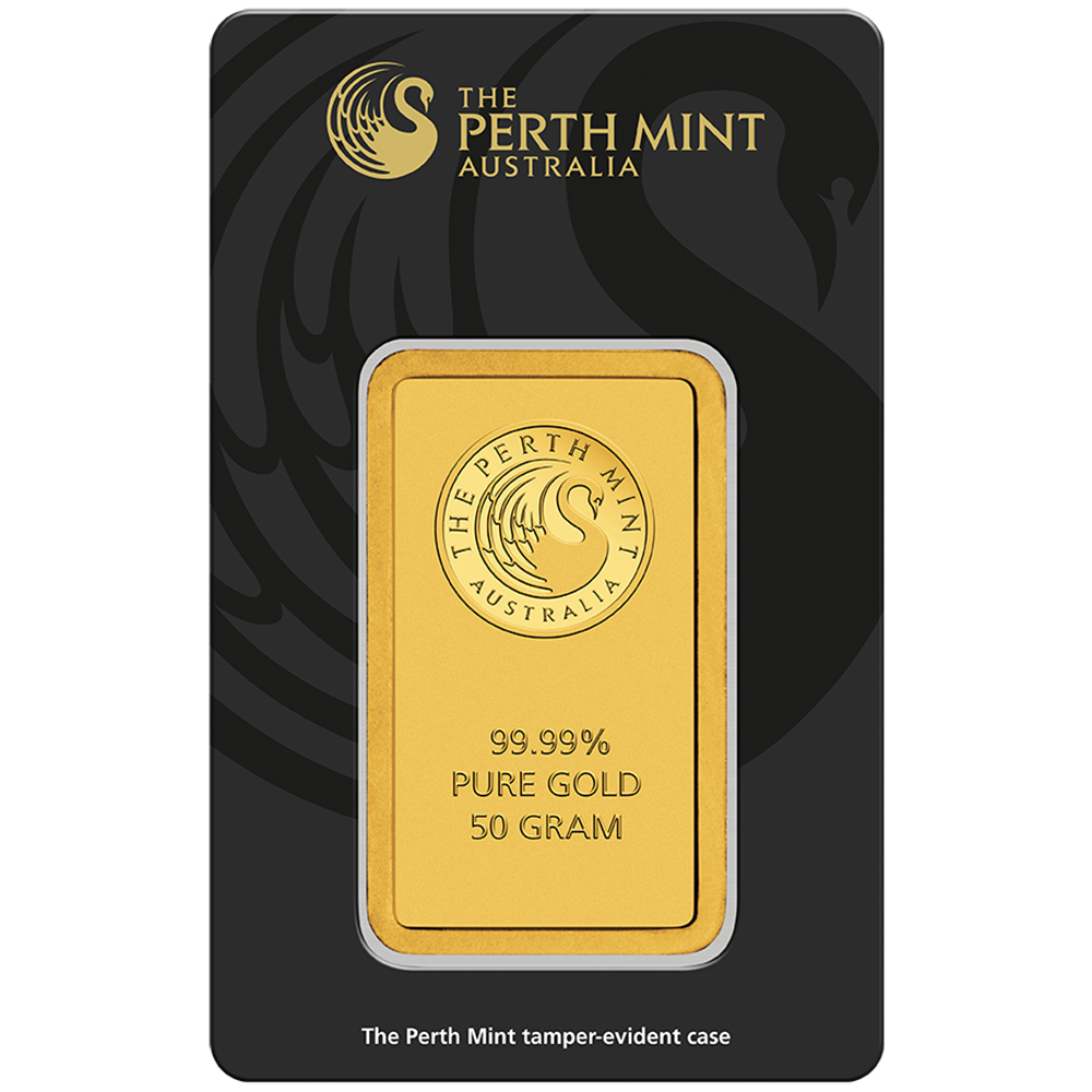 Perth Mint 50g Gold Bar