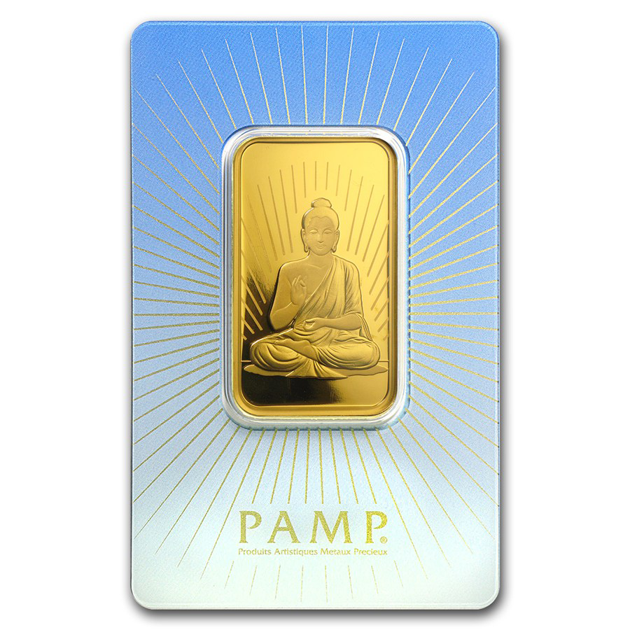 PAMP 'Faith' Buddha 1oz Gold Bar