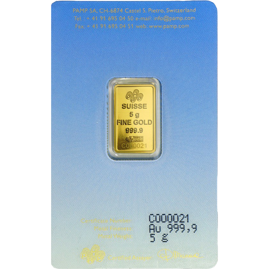 PAMP 'Faith' Am Yisrael Chai! 5g Gold Bar (Image 2)