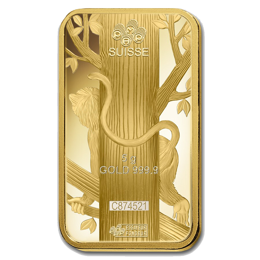 2016 Lunar Monkey 5g Gold Bar Five Gram Gold Bars For Sale