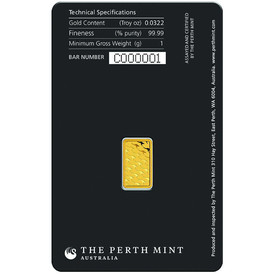 Perth Mint 1g Gold Bar