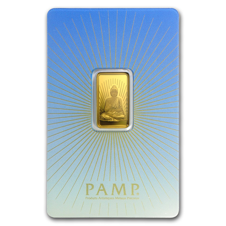PAMP 'Faith' Buddha 5g Gold Bar