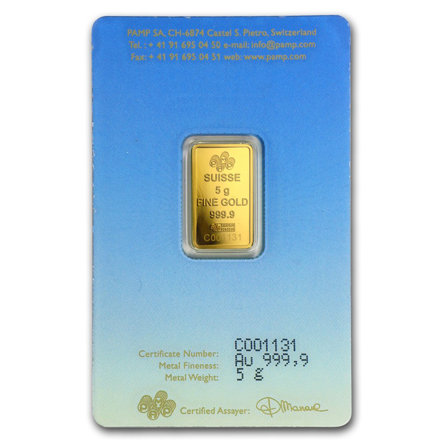 PAMP 'Faith' Buddha 5g Gold Bar (Image 2)