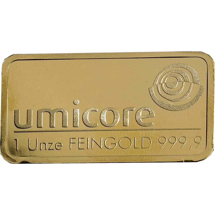 Umicore 1oz Gold Stamped Bar