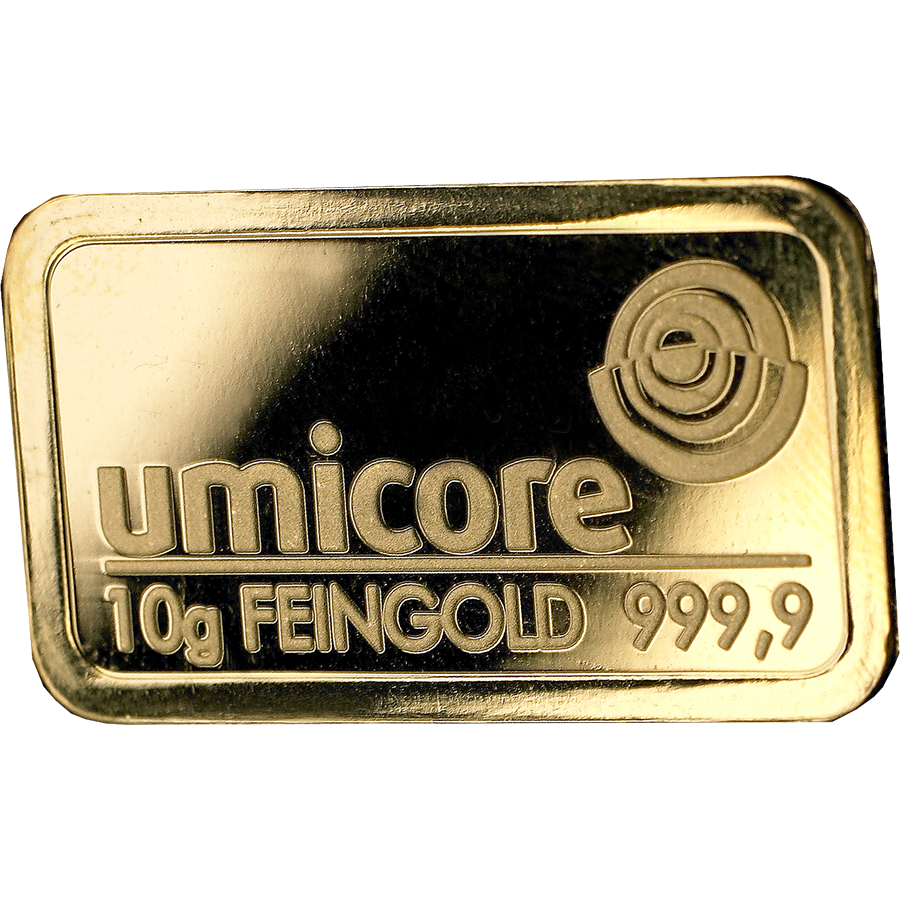 Umicore 10g Gold Stamped Bar