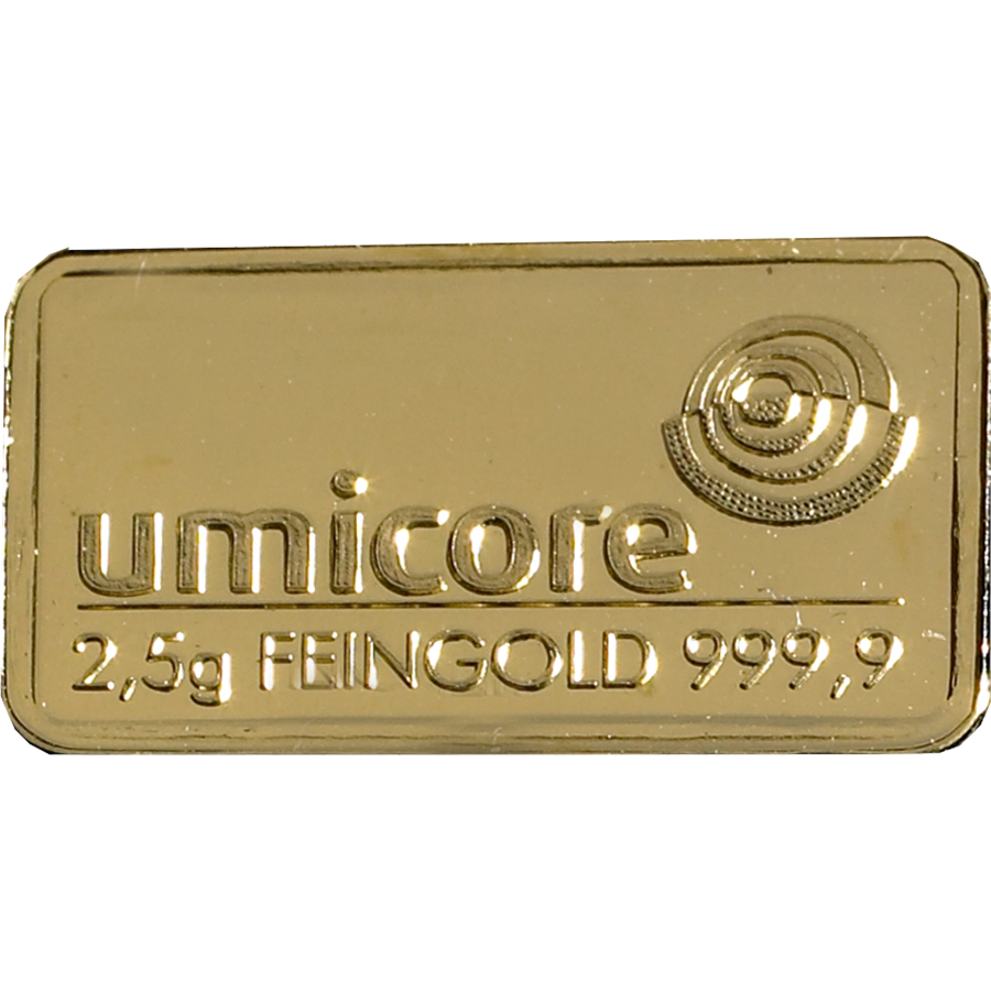 Umicore 2.5g Stamped Gold Bar