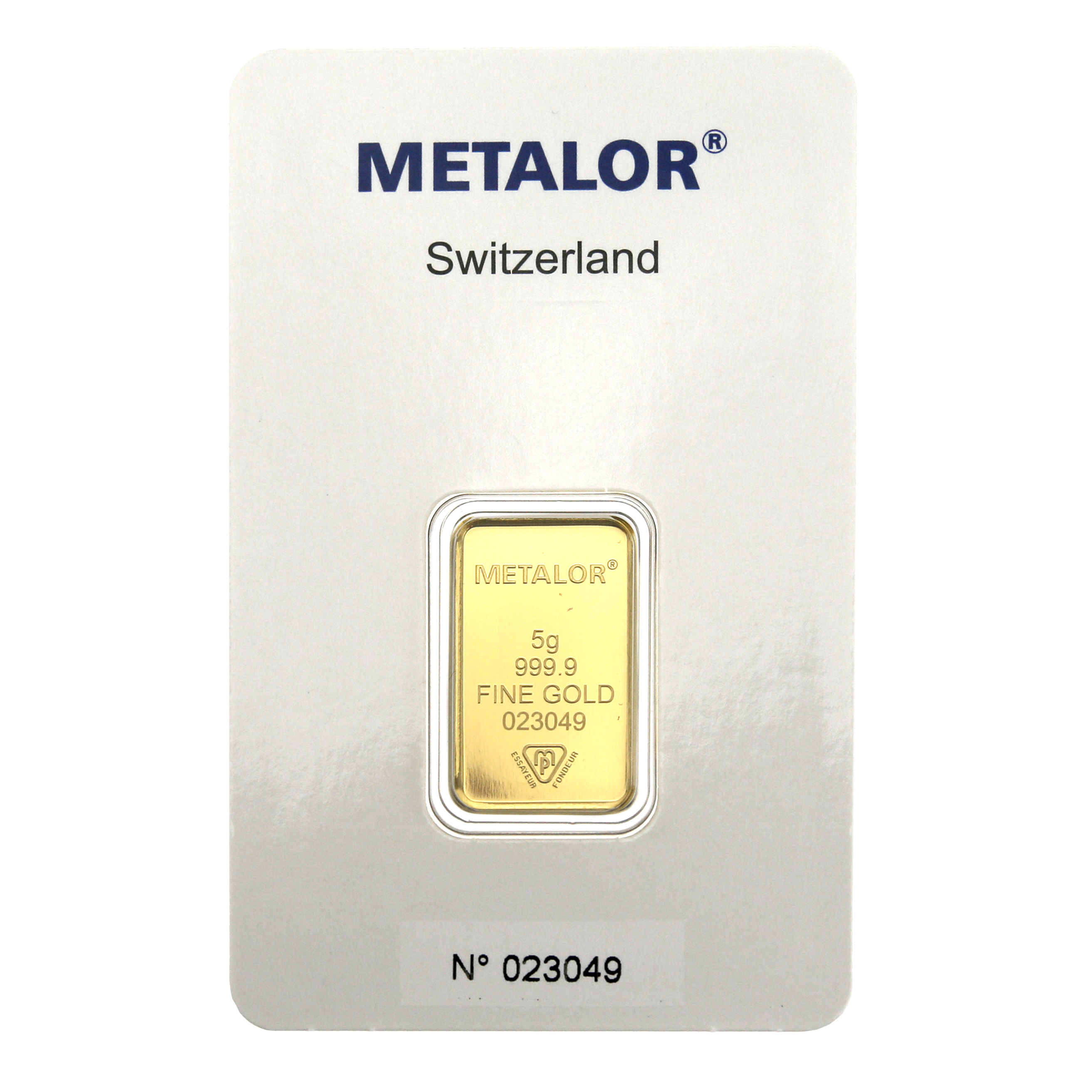 Metalor Stamped 5g Gold Bar