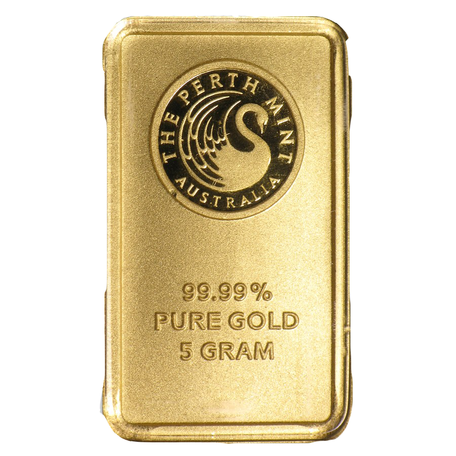 Perth Mint 5g Gold Bar Five Gram Gold Bullion Bars