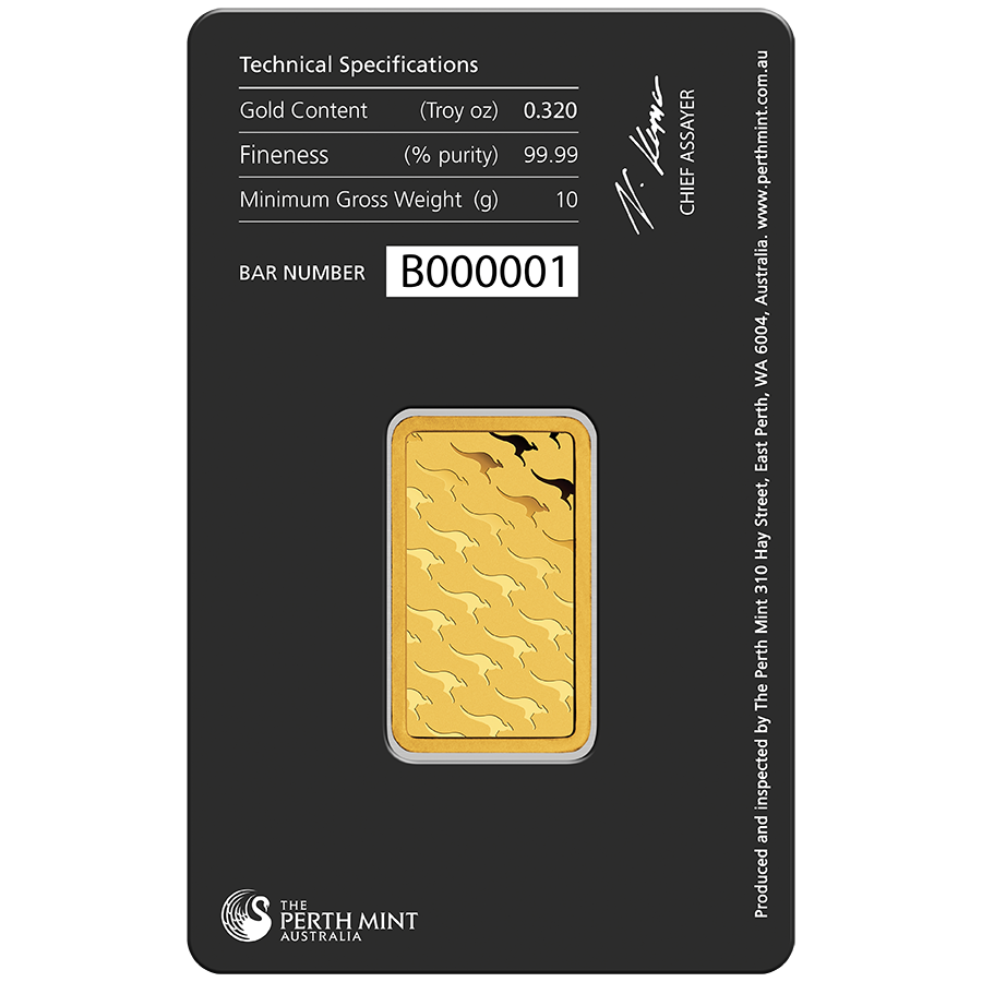 Perth Mint 10g Gold Bar Gold Bullion Bars Free Uk Delivery