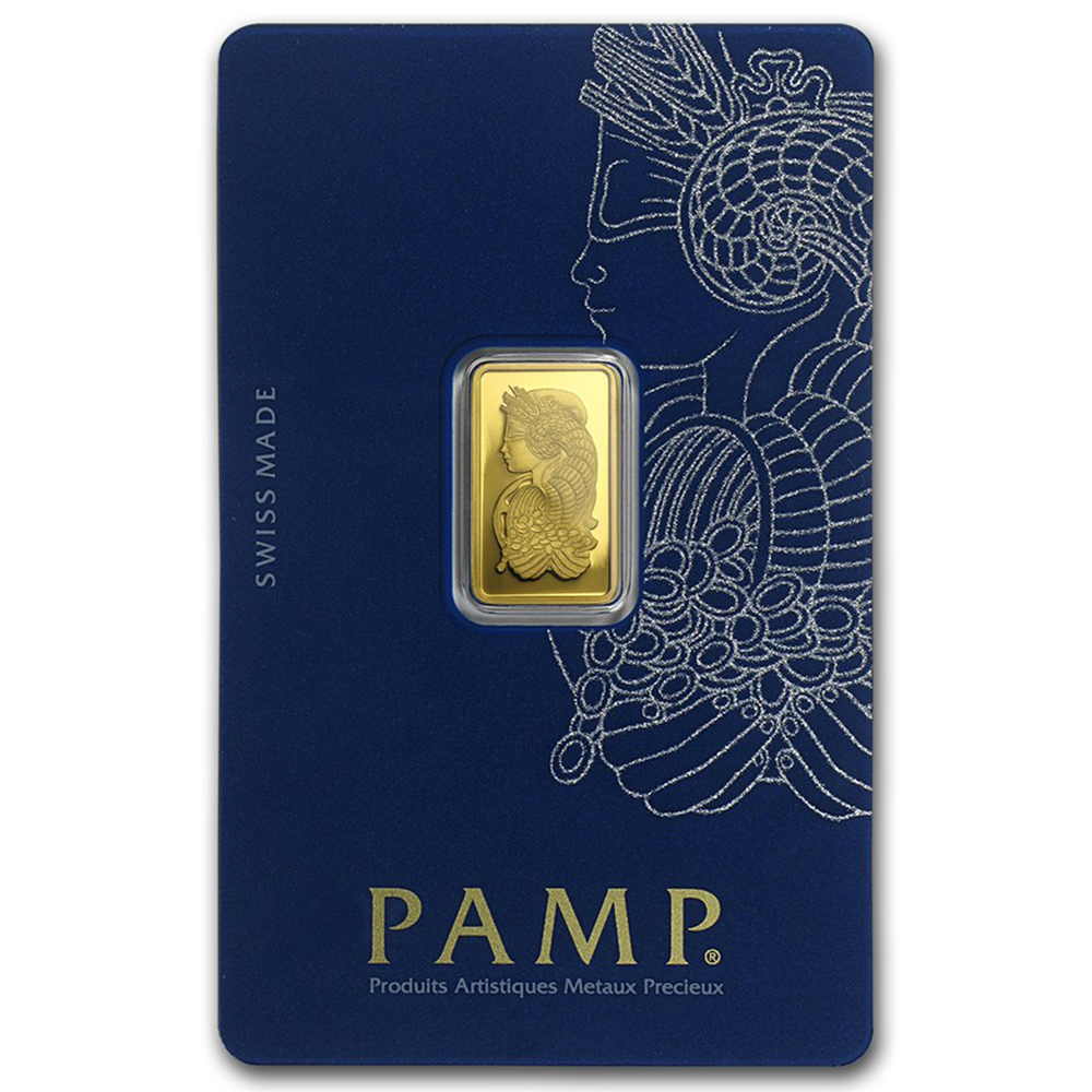 Pre-Owned PAMP Suisse 2.5g Fortuna Gold Bar - Certificated