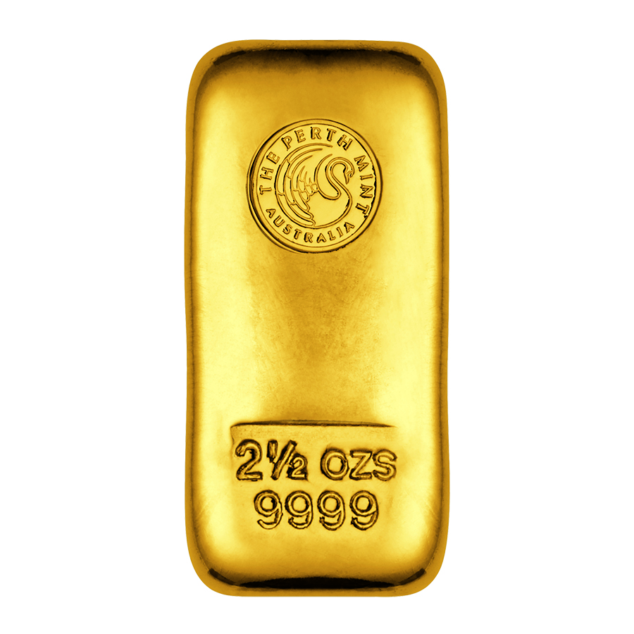 Perth Mint 2.5oz Cast Gold Bar