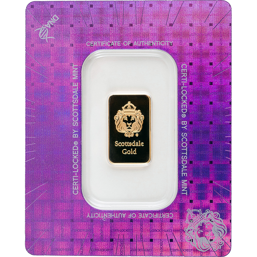 Scottsdale Mint Certi-Lock 5g Gold Bar