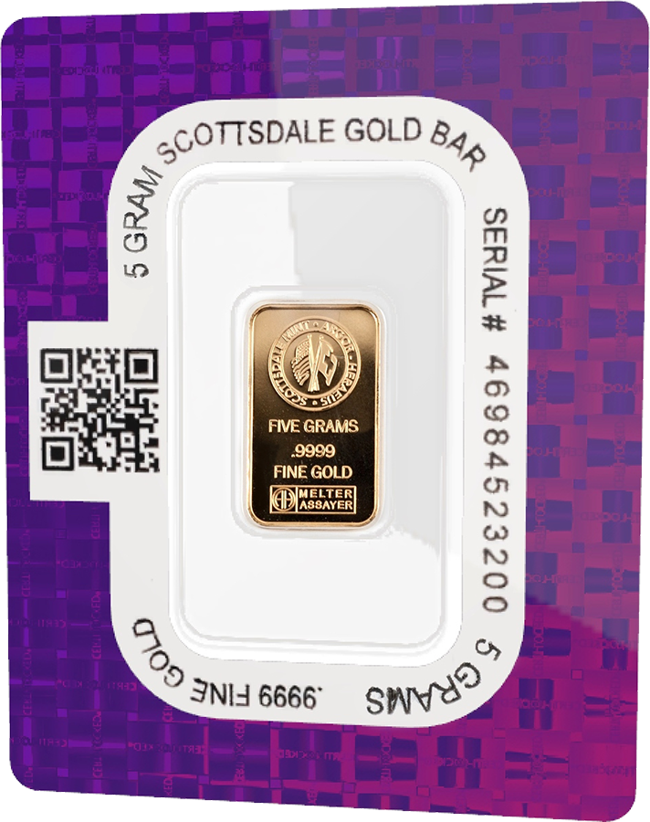 New Scottsdale Mint Certi Lock 5g Gold Bar Atkinsons Bullion