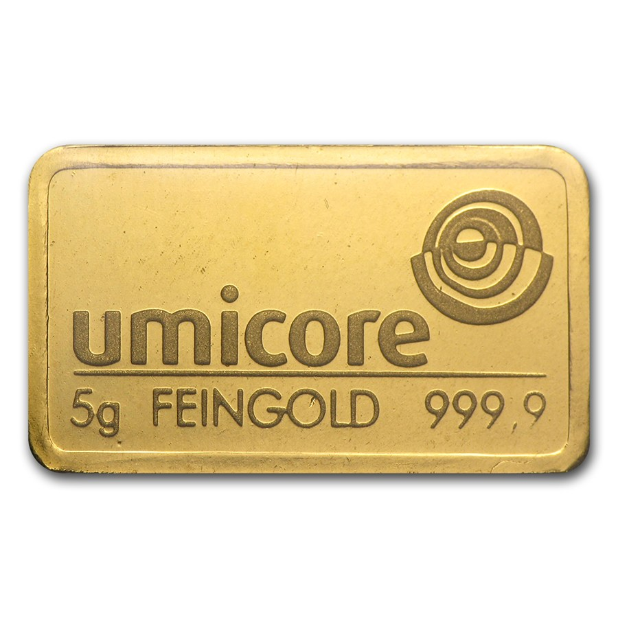 Umicore 5g Stamped Gold Bar