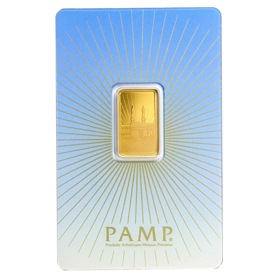 Pre-Owned PAMP 'Faith' Ka ´Bah, Mecca 5g Gold Bar