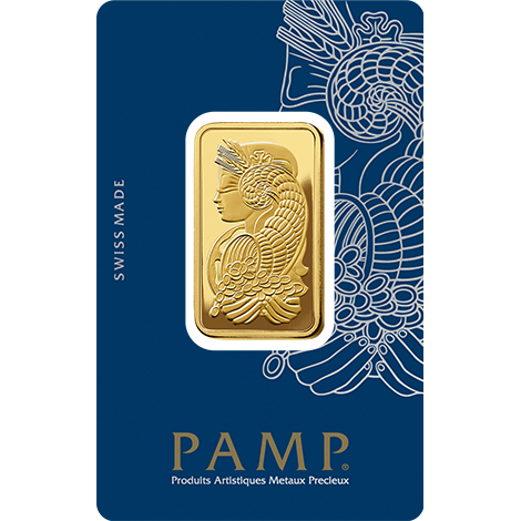 Pamp Suisse Fortuna 2 Tola Gold Bar