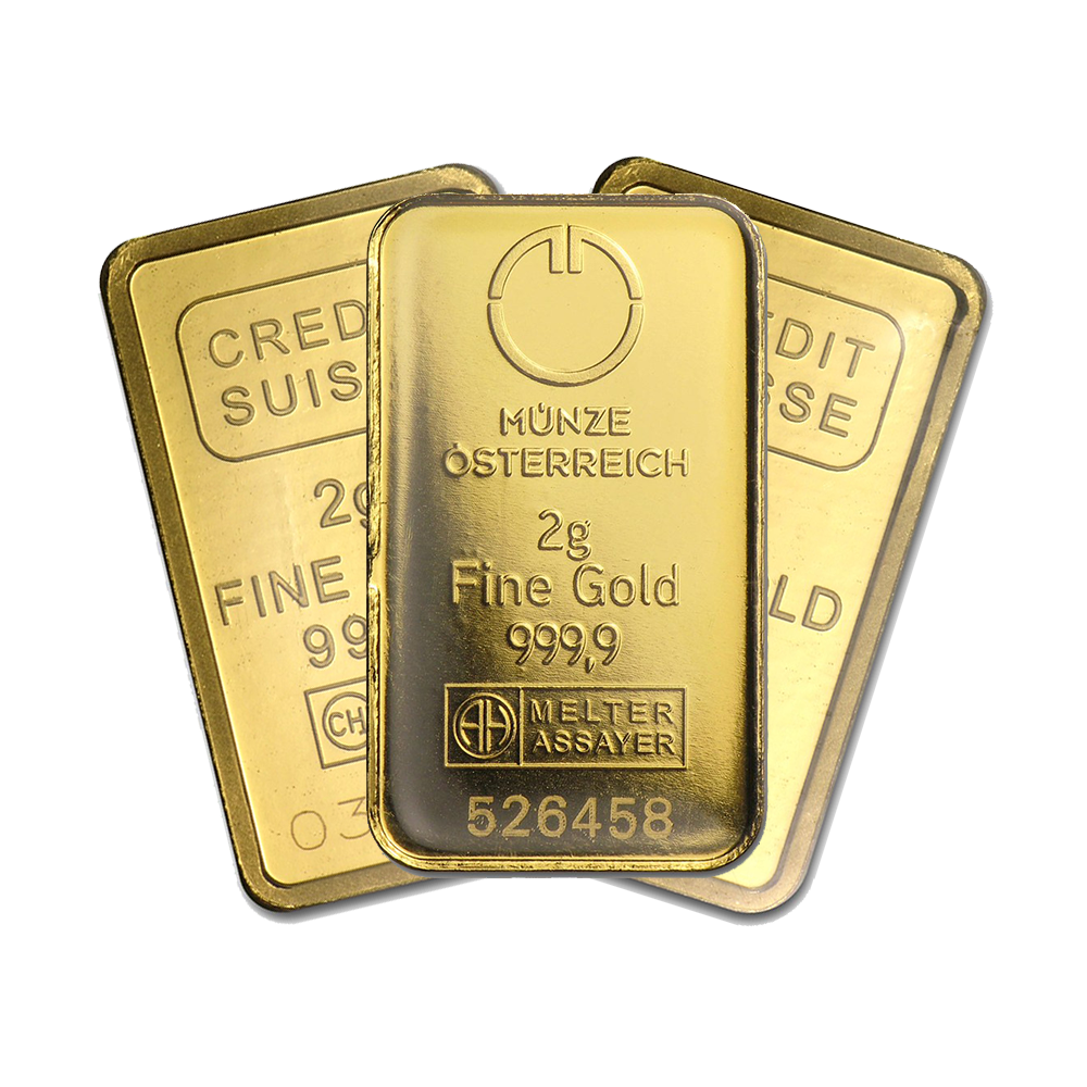 2g Gold Bullion Bar