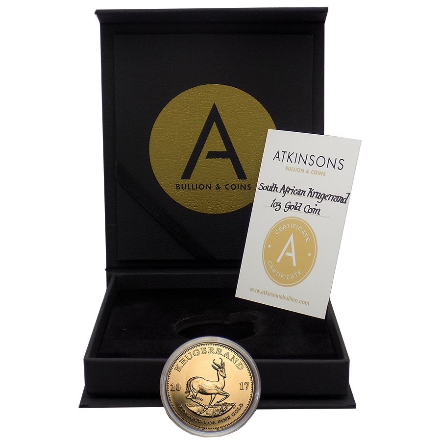 2017 South African Krugerrand 1oz Gold Coin with Gift Box & Certificate (Image 2)