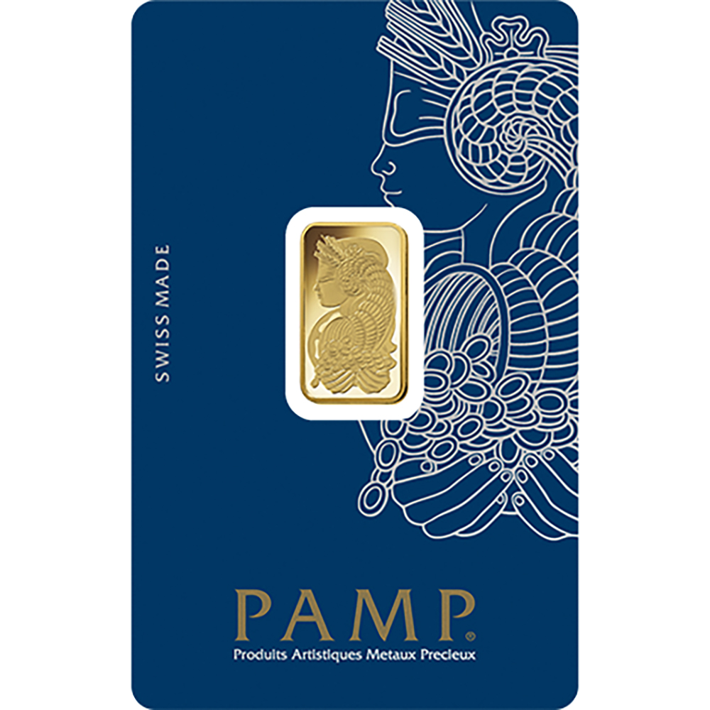 PAMP Suisse Fortuna 5g Gold Bar with Gift Box & Certificate (Image 2)