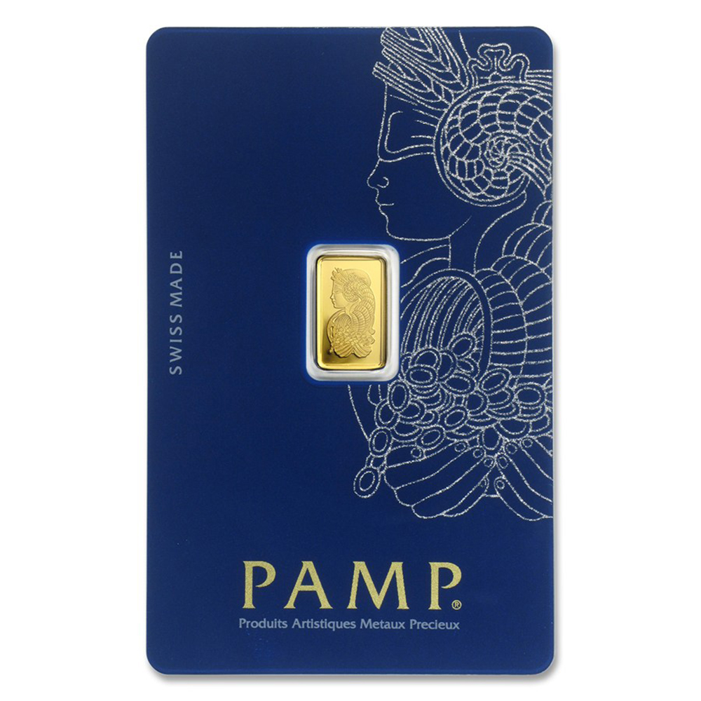 PAMP Suisse Fortuna 1g Gold Bar with Gift Box & Certificate (Image 2)