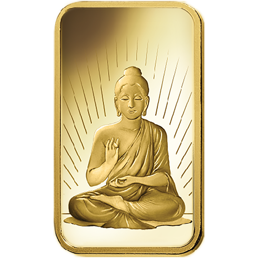 PAMP 'Faith' Buddha 5g Gold Bar with Gift Box & Certificate (Image 3)