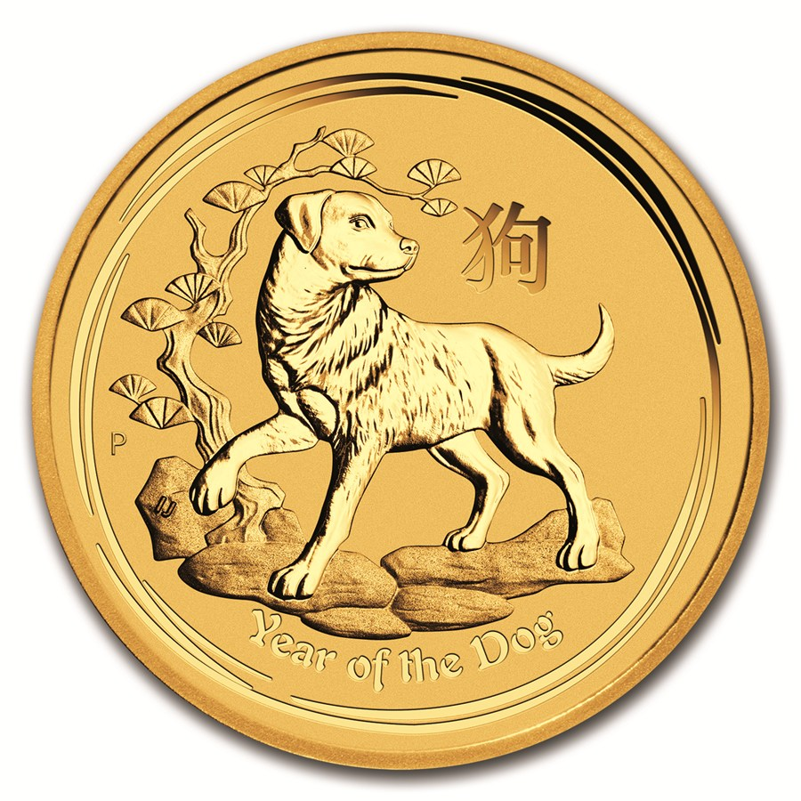 2018 Australian Lunar Dog 1oz Gold Coin with Gift Box & Certificate (Image 2)