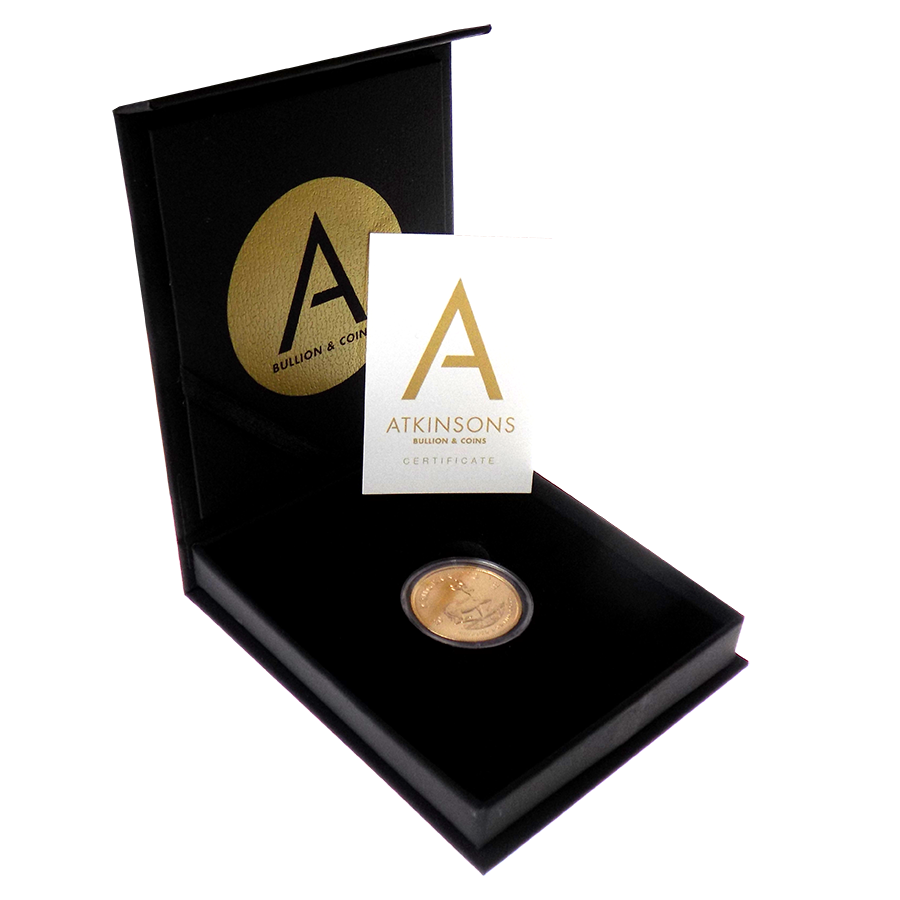 2018 South African Krugerrand 1oz Gold Coin with Gift Box & Certificate