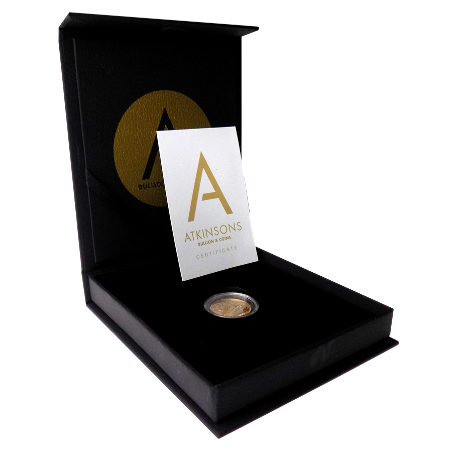 Pre-Owned 2000 UK 'Millennium' Full Sovereign Gold Coin with Gift Box & Certificate
