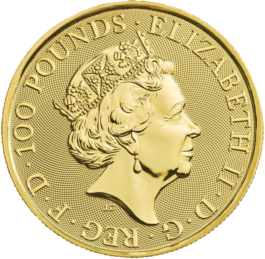 2019 UK Queen's Beasts The Falcon of the Plantagenets 1oz Gold Coin with Gift Box & Certificate (Image 3)