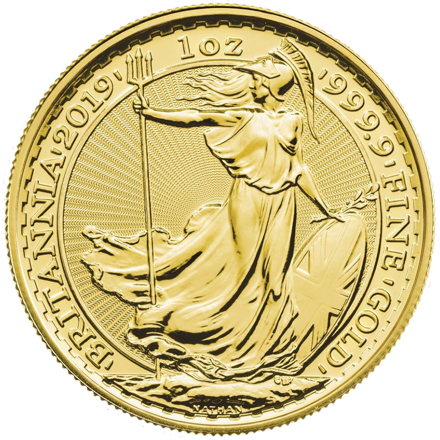 2019 UK Britannia 1oz Gold Coin - Monster Box of 100 Coins (Image 4)