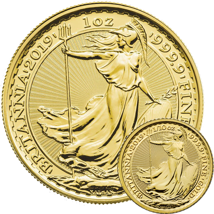 2019 UK Britannia 1oz & 1/10oz Gold Coin Collection
