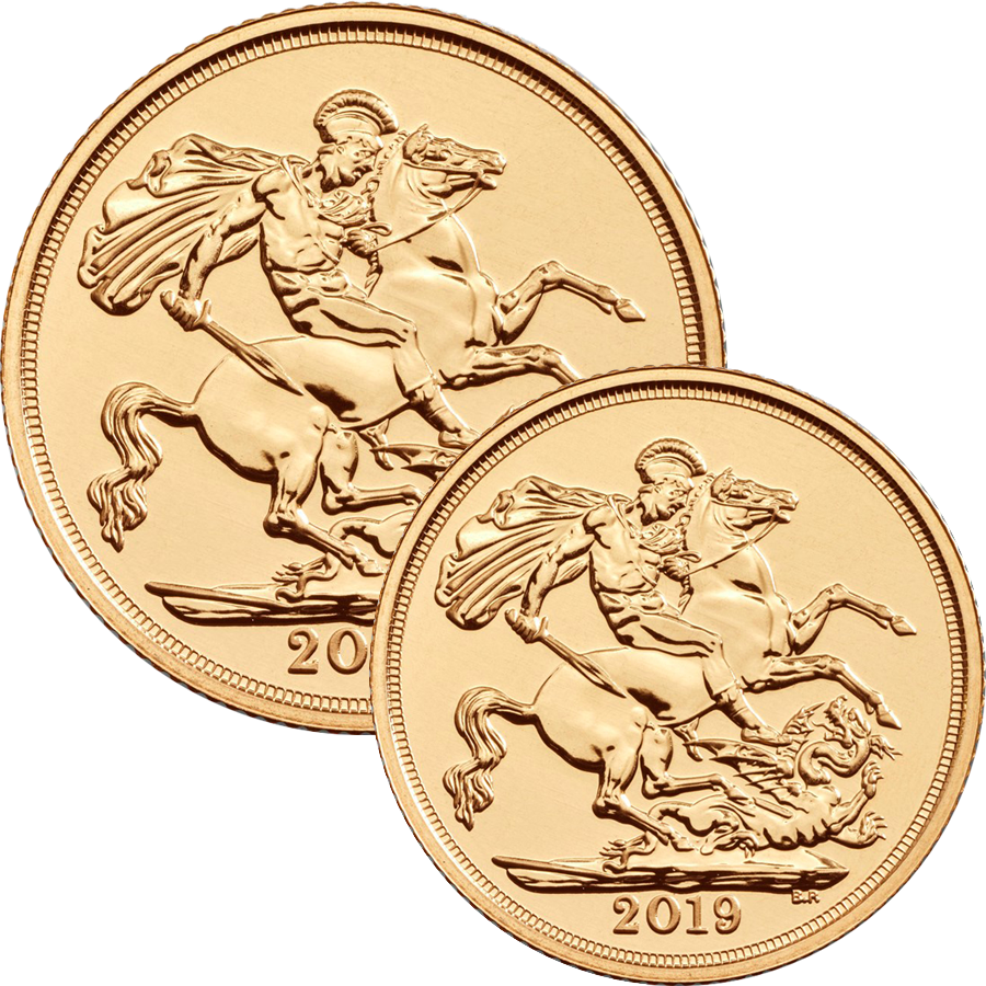 2019 UK Full Sovereign & Half Sovereign Gold Coin Collection