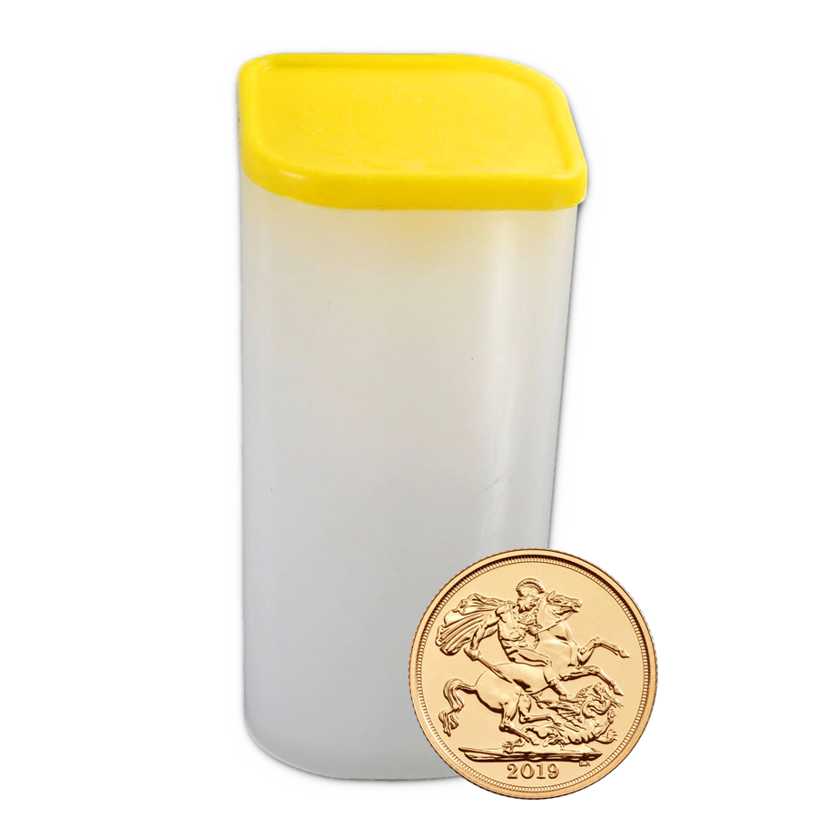 2019 UK Full Sovereign Gold Coins - Full Tube of 25 Coins