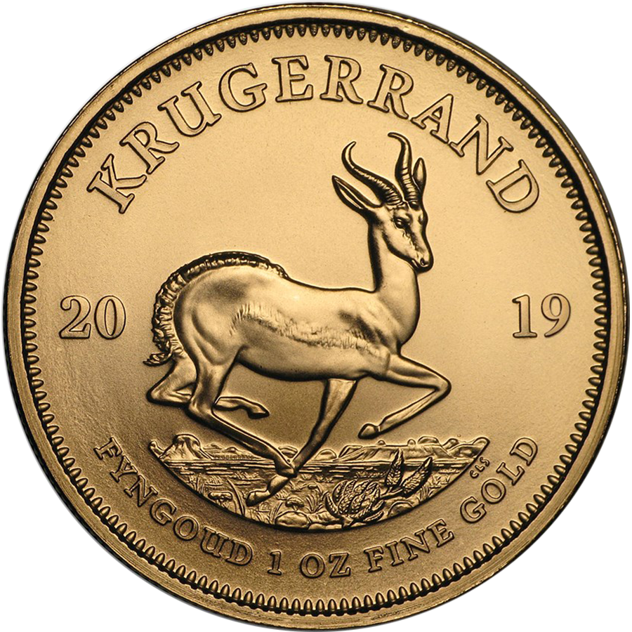 2019 South African Krugerrand 1oz Gold Coin with Gift Box & Certificate (Image 2)