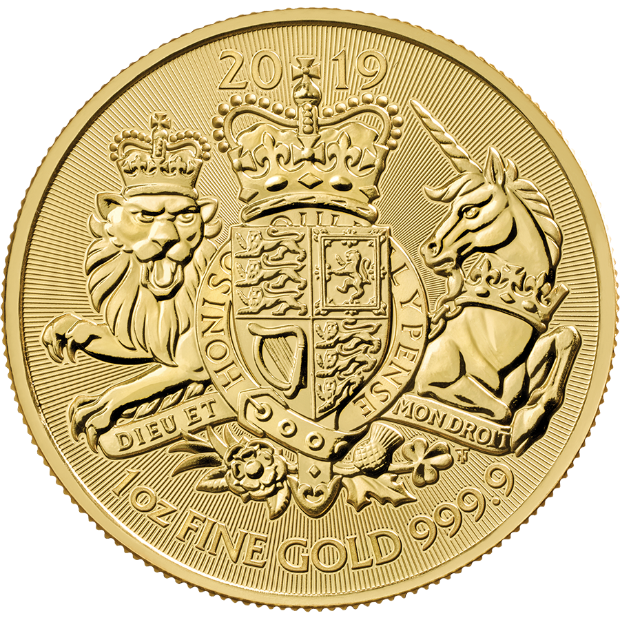 2019 UK Coat of Arms 1oz Gold Coin with Gift Box & Certificate (Image 2)