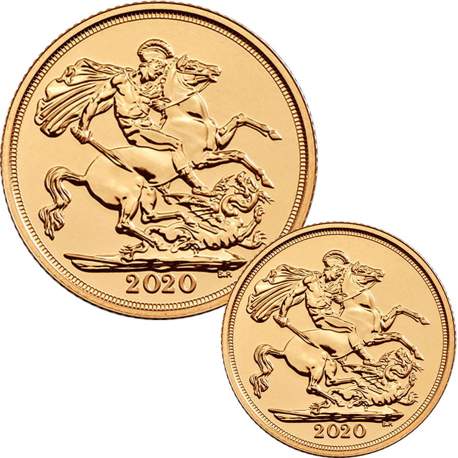 2020 UK Full Sovereign & Half Sovereign Gold Coin Collection