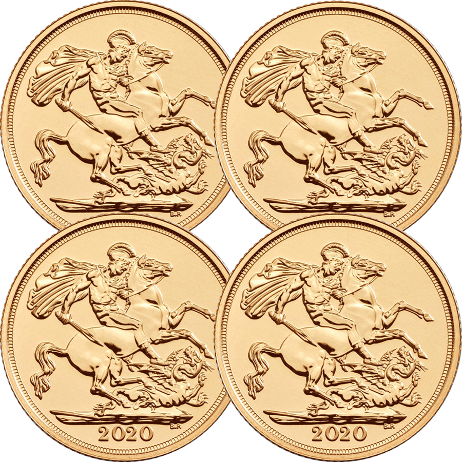 2020 UK Full Sovereign Gold 4 Coin Bullion Bundle