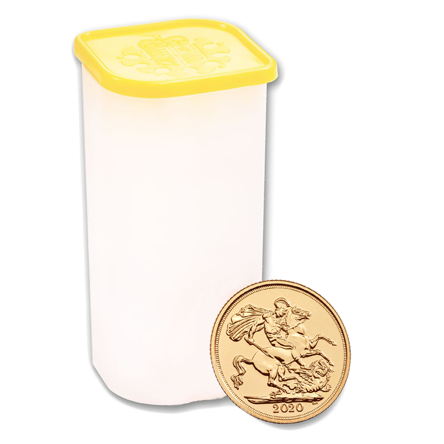 2020 UK Full Sovereign Gold Coins - Full Tube of 25 Coins