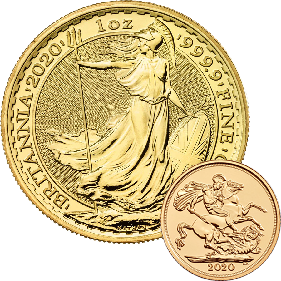 2020 UK Full Sovereign & 2020 Britannia 1oz Gold Coin Collection