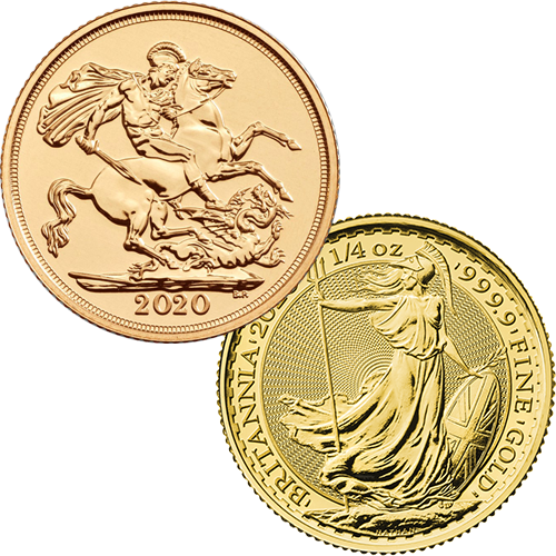 2020 UK Full Sovereign & Britannia 1/4oz Gold Coin Collection