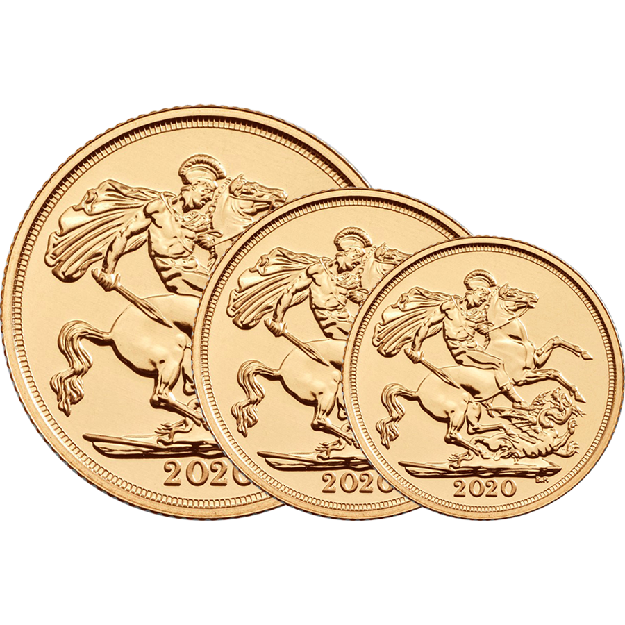2020 UK Double, Full & Half Sovereign Gold Coin Collection